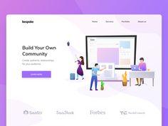 Build your own community | Landing page | Illustration v2