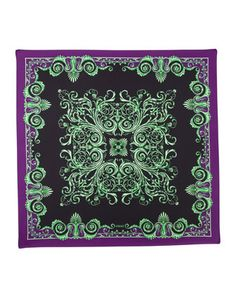 Foulard Square Scarf, Neon Green by Versace at Last Call by Neiman Marcus.