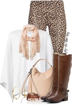 leopard leggings with riding boots fall outfit bmodish