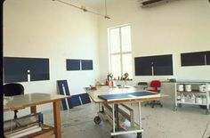 Melba Levick   Great studio space... High ceilings, natural light in abundance, portable storage and work surfaces.