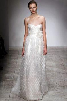 Christos polka dot wedding dress
