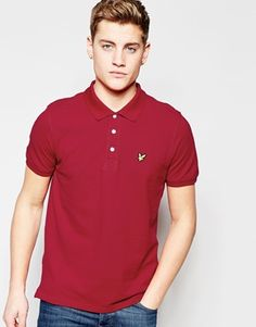 19a1b01c4 Lyle   Scott Polo Shirt with Eagle Logo in Ruby Polo Shirt Style