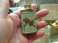 Vintage talc tin miniatures!