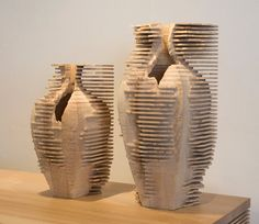 Vessels from the Contemporary Craft and Design exhibition (wood  ceramics) - designs by Gareth Neal
