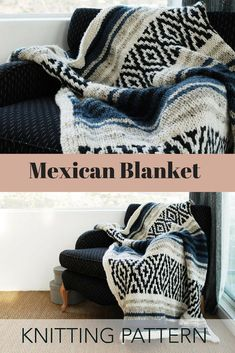 Knitting Pattern // Sarape Mexican Geometric Mosaic Striped Afghan Throw Rug // Mexican Blanket PATTERN #ad #homedecor Special Gifts, Great Gifts, Affordable Rugs, Throw Rugs, Merino Wool Blanket, Knit Crochet, Knitting Patterns, Women Accessories, Stitches