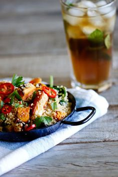 Perfect for lunch, this whole-wheat couscous salad with haloumi, roasted orange sweet potato and a chilli dressing will fill the spot while leaving you energised for the rest of your day!