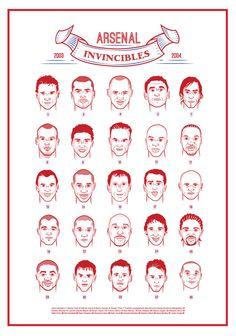 Arsenal Invincibles Squad Print by KieranCarrollDesign on Etsy