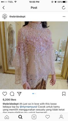 67 Ideas fashion design inspiration haute couture wedding gowns for 2019 Kebaya Lace, Batik Kebaya, Kebaya Dress, Batik Dress, Kebaya Modern Hijab, Kebaya Hijab, Kebaya Muslim, Model Kebaya Brokat Modern, Dress Brukat