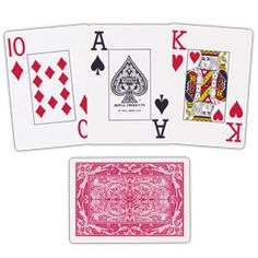 Maverick Jumbo Face Playing Cards for Low Vision   Card Games - MaxiAids.com
