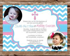 Invitation card for christening invitation card for christening printable pink and blue chevron dedication christening or baptism invitation for boy and girl stopboris Images