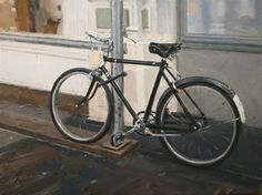 """Vincent Giarrano """"Black Bicycle"""", oil, 9 x 12"""