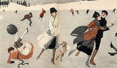 """Winter Sports, Ice Skating"" by Cesare Giri (1878-1938)"