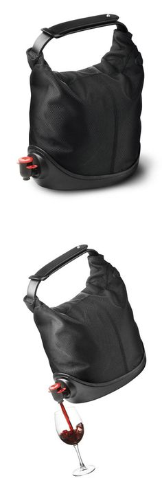 Portable Wine Bag - Have wine on tap wherever you are. The opening fits all standard taps and there is room for an ice pack. Genius! | https://www.thecools.com/#!/listItem/productDetail/11651?medium=HardPin=Pinterest=type56=hardpin_type56