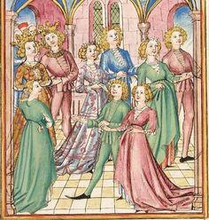 Pontus und Sidonia — Stuttgart (?) - Werkstatt Ludwig Henfflin, um 1475 Cod. Pal. germ. 142 Folio 16r
