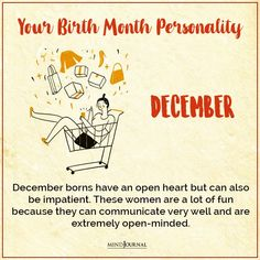Very Well, Birth Month Personality, Open Minded, Knowing You, Fun, Women, Hilarious, Woman