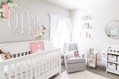 Olivia's Nursery Reveal - Morgan Bullard Baby Bedroom, Nursery Room, Girl Nursery, Girl Room, Nursery Decor, Nursery Ideas, Baby Rooms, Room Baby, Nursery Design