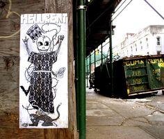 #StreetArt #UrbanArt - Hellbent Street Work, Urban Art, City Art, Street Art