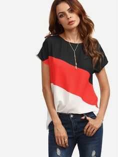 Shop Color Block Cut And Sew Cap Sleeve Top online. SheIn offers Color Block Cut And Sew Cap Sleeve Top & more to fit your fashionable needs.