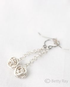 Silver Wire Ball Earrings by Brehg87, via Flickr