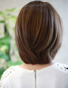 hairstyles for thin hair fine over 50 Bob Haircut For Fine Hair, Haircuts For Long Hair, Short Hair Cuts, Layered Bob Hairstyles, Layered Hair, Cool Hairstyles, Medium Hair Styles, Short Hair Styles, Korean Short Hair