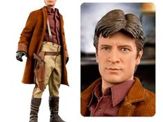"""""""Take Captain Tight Pants home: New Mal Reynolds 'Firefly' figure """"- """"Now everyone can pretend Nathan Fillion lives with them."""" - this figure comes with the world's best description!"""