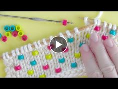 How to Knit Beads Knitting Technique Knitting Stiches, Knitting Videos, Knitting For Beginners, Loom Knitting, Crochet Stitches, Baby Knitting, Knitting Patterns, Crochet Patterns, Free Knitting