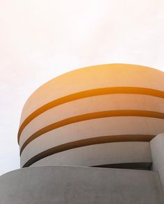 """""""As an Upper East Sider, I frequently visit the museum. The iconic spiral and facade is as much a work of art as the legendary paintings the Guggenheim houses. Truly an illustrious Upper East Side staple!""""—Visitor Blair #FrankLloydWrightFridays — 📷 @blairolivia #FrankLloydWright #Guggenheim #Architecture"""