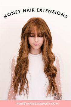 The best quality hair extensions. #hairgoals #hairinspo #redhead #strawberryblonde #auburnhair #hairextensions #frontbangs #2020hairtrends Front Bangs, Honey Hair, Tape In Hair Extensions, Auburn Hair, Strawberry Blonde, Remy Hair, Hair Inspo, Hair Trends, Hair Goals