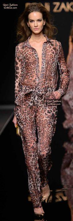 Rani Zakhem Spring 2015 Haute Couture #AnimalPrint