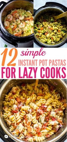 12 Instant Pot Pasta Recipes for Easy Dinners 12 Simple Instant. - 12 Instant Pot Pasta Recipes for Easy Dinners 12 Simple Instant Pot Pasta Recipes - Quick Pasta Recipes, Pastas Recipes, Healthy Recipes, Simple Cooking Recipes, Easy Recipes For One, Easy Instapot Recipes, Easy Meals For One, Recipies, Chicken Recipes