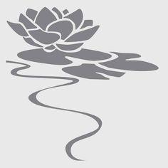 Water Lily on 6x6 laser cut stencil