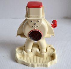 Vintage Mid Century 1960's HASBRO FROSTY SNO - MAN Snow Cone Machine TOY #Hasbro