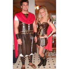 If you want to channel two powerful people, consider going for a gladiator getup with your SO.                   Source: Instagram user kaseefacee