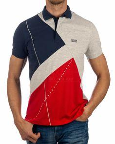 Regular FitComposition: 54% Cotton 40% Polyester (recycled) 6% Elastane ... Polo Shirt Brands, Mens Polo T Shirts, Golf Shirts, Collar Shirts, Polo Shirt Design, Polo Design, Hugo By Hugo Boss, Hugo Boss Clothing, African Dresses Men