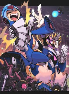 Highway by Gashi-gashi on DeviantArt Mega Man, Akira, Playstation, Days Anime, Keiji Inafune, Nintendo, Fighting Robots, Fanart, Man Wallpaper