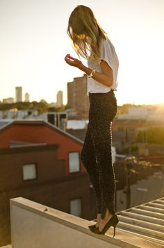 Sequin leggings. It's like a party in my pants.