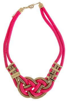 WHOLESALE JEWELRY TOWN : CHAIN AND ROPE KNOT DESIGN NECKLACE