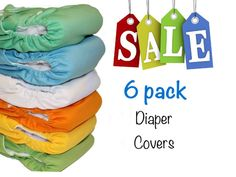 Cloth Diapers Covers 6 pack Sale reusable style by Momgaroo, $33.00