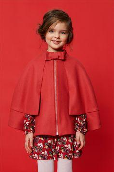 #cape Young Fashion, Little Girl Fashion, Kids Fashion, Kenzo, Moncler, Kids Coats, Girl Online, My Baby Girl, Baby Girls