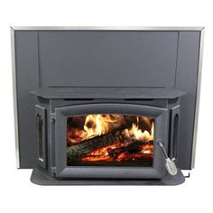 This Ashley Hearth Products Wood-Burning Stove Insert provides the perfect combination of warmth and style — powerful BTU h. Wood Burning Stove Insert, Wood Burning Fireplace Inserts, Insert Stove, Ashley Wood Stove, Bay Window Design, Wood Insert, Grey Wood, Hearth, Home Appliances