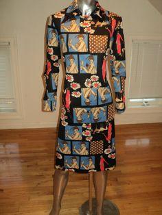 Vintage novelty dress via eBay