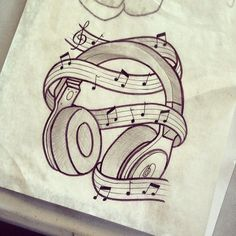 Tattoo Inspiration – Top Of The World Easy Pencil Drawings, Music Drawings, Cool Art Drawings, Girl Drawing Sketches, Tattoo Sketches, Tattoo Drawings, Desenho Tattoo, Art Sketchbook, Harry Potter