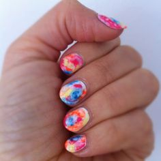 Water-colour nails Watercolour Nails, Watercolor, Colourful Nails, One Color, Claws, Nail Ideas, Fingers, Nail Colors, Hair Beauty