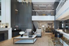 grey panelling and bar
