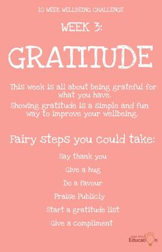 Enjoy this weeks' Wellbeing Challenge Showing Gratitude, Grateful For You, Challenge Week, The Body Shop, Improve Yourself, Challenges, Mindfulness, Sayings