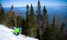 Ski sur le Massif de Charlevoix