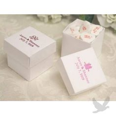 2 PC Personalized Favor Boxes