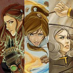 The girls of Korra.