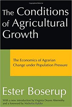 The conditions of agricultural growth [Recurso electrónico] : the economics of Agrarian change under population pressure / Ester Boserup PUBLICAC.	London : Routledge, 2003