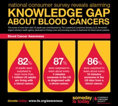 September is Blood Cancer Awareness Month. Learn more about blood cancers with this info graphic from the Leukemia & Lymphoma Society. Leukemia And Lymphoma Society, Leukemia Awareness, Colon Cancer, Cancer Cure, Cancer Ribbons, Childhood Cancer Awareness, Hematology, Nursing Notes, Cancer Facts